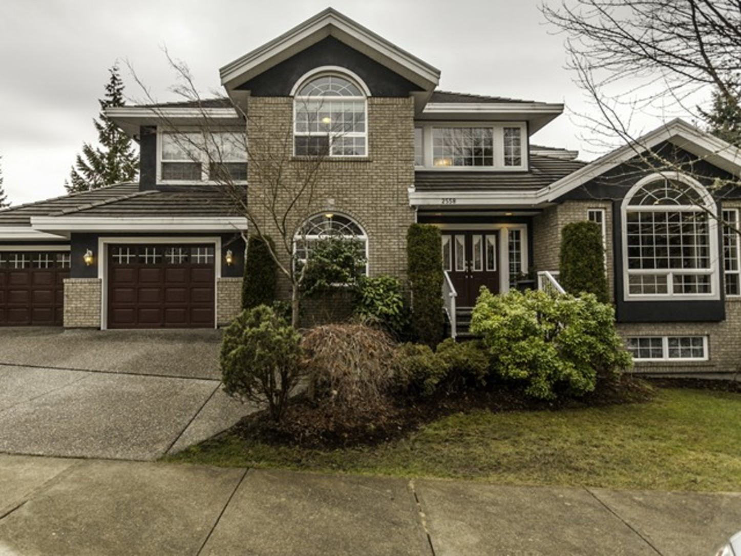 Front side view at 2558 Diamond Crescent, Westwood Plateau, Coquitlam