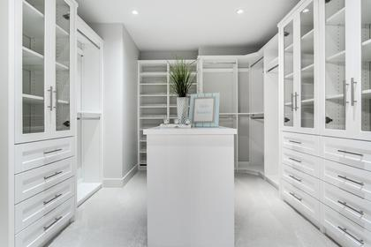 Custom California Walk-In Closet at 741 Winona Avenue, Forest Hills NV, North Vancouver