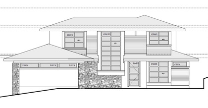 3305AyrFrontDrawing-2 at 3305 Ayr Avenue, Edgemont, North Vancouver