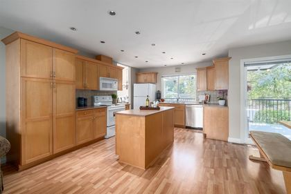 Kitchen with Island at 1870 Peters Road, Lynn Valley, North Vancouver