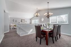 Dining Room with Vaulted Ceilings at 1870 Peters Road, Lynn Valley, North Vancouver