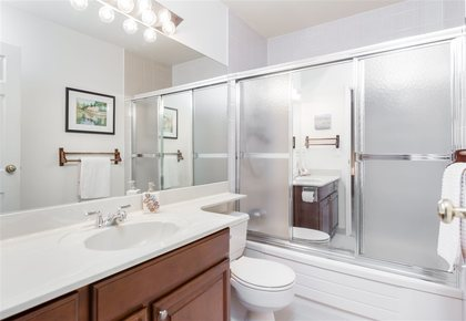 Main Bathroom at 7427 Echo Place, Champlain Heights, Vancouver East