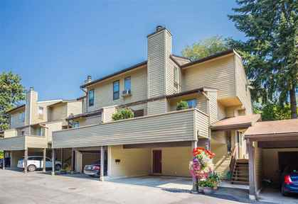 Duplex-style with double carport at 7427 Echo Place, Champlain Heights, Vancouver East