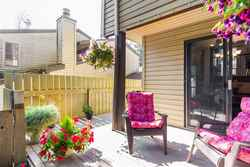 Private Patio at 7427 Echo Place, Champlain Heights, Vancouver East