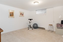 Recreation Room at 7427 Echo Place, Champlain Heights, Vancouver East