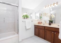 Master Ensuite with double vanity at 7427 Echo Place, Champlain Heights, Vancouver East