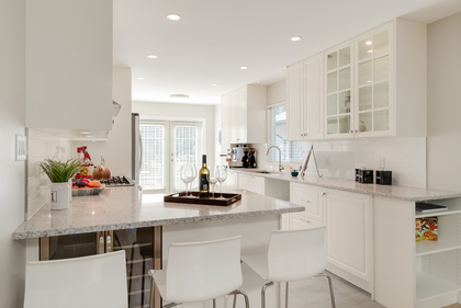 Renovated and Bright White Kitchen at 1497 Harold Road, Lynn Valley, North Vancouver