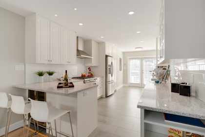 Renovated White Kitchen great for entertaining at 1497 Harold Road, Lynn Valley, North Vancouver