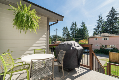 Deck off Kitchen  at 1497 Harold Road, Lynn Valley, North Vancouver