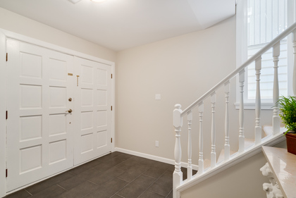 Foyer with double entrance doors at 1497 Harold Road, Lynn Valley, North Vancouver
