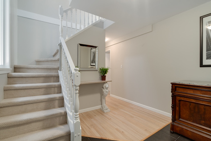 Foyer to upstairs and lower level at 1497 Harold Road, Lynn Valley, North Vancouver