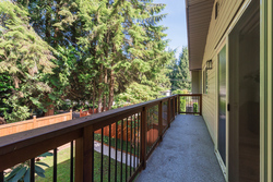 Deck off living room at 1497 Harold Road, Lynn Valley, North Vancouver