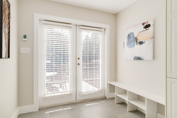French Doors to Deck at 1497 Harold Road, Lynn Valley, North Vancouver