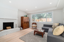 Flex Space for office or guests with fireplace  at 1497 Harold Road, Lynn Valley, North Vancouver