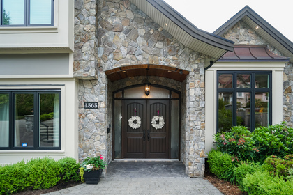 Grand Entrance | Edgemont Family Home | North Vancouver at 4565 Ranger Avenue, Canyon Heights NV, North Vancouver