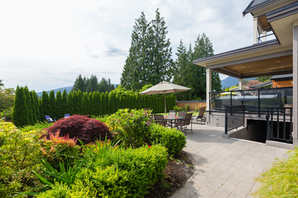 Mature Gardens and Patio | Edgemont Family Home | North Vancouver at 4565 Ranger Avenue, Canyon Heights NV, North Vancouver