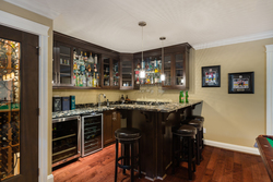 Entertainer's Bar | Edgemont Family Home | North Vancouver at 4565 Ranger Avenue, Canyon Heights NV, North Vancouver