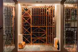 Wine Closet | Edgemont Family Home | North Vancouver at 4565 Ranger Avenue, Canyon Heights NV, North Vancouver