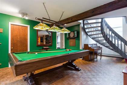 Wellington | Lynn Valley | Family Home | Rec Room with Pool Table at 1358 Wellington Drive, Lynn Valley, North Vancouver