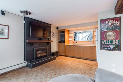 Wellington   Lynn Valley   Family Home   Rec Room with Bar & Fireplace at 1358 Wellington Drive, Lynn Valley, North Vancouver
