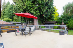 Wellington | Lynn Valley | Family Home | Back Sun Deck at 1358 Wellington Drive, Lynn Valley, North Vancouver
