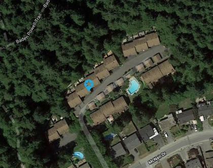 Lynn Valley | Parkwood North | Townhome | Arial at 1530 Mcnair Drive, Lynn Valley, North Vancouver