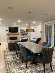 Eating Area with Folding Doors at 1840 Appin Road, Westlynn, North Vancouver