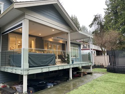 Rear Covered Deck off Eating Area at 1840 Appin Road, Westlynn, North Vancouver