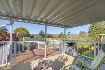 Rear Deck at 1442 Denise Place, Mary Hill, Port Coquitlam