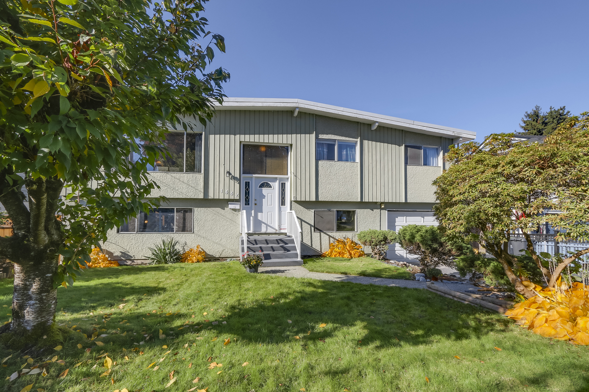 Front View at 1442 Denise Place, Mary Hill, Port Coquitlam