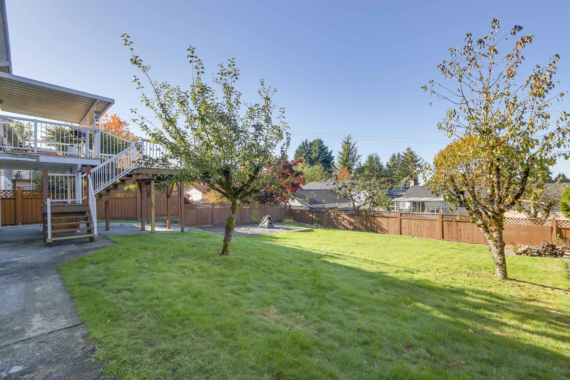 Back Yard at 1442 Denise Place, Mary Hill, Port Coquitlam