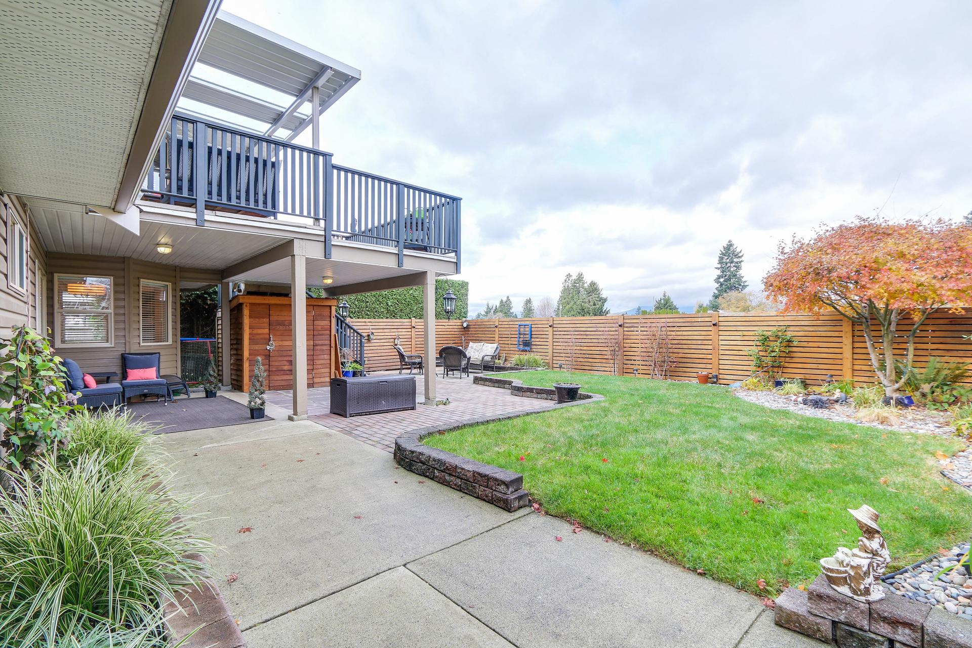 Back yard at 20429 115 Avenue, Southwest Maple Ridge, Maple Ridge