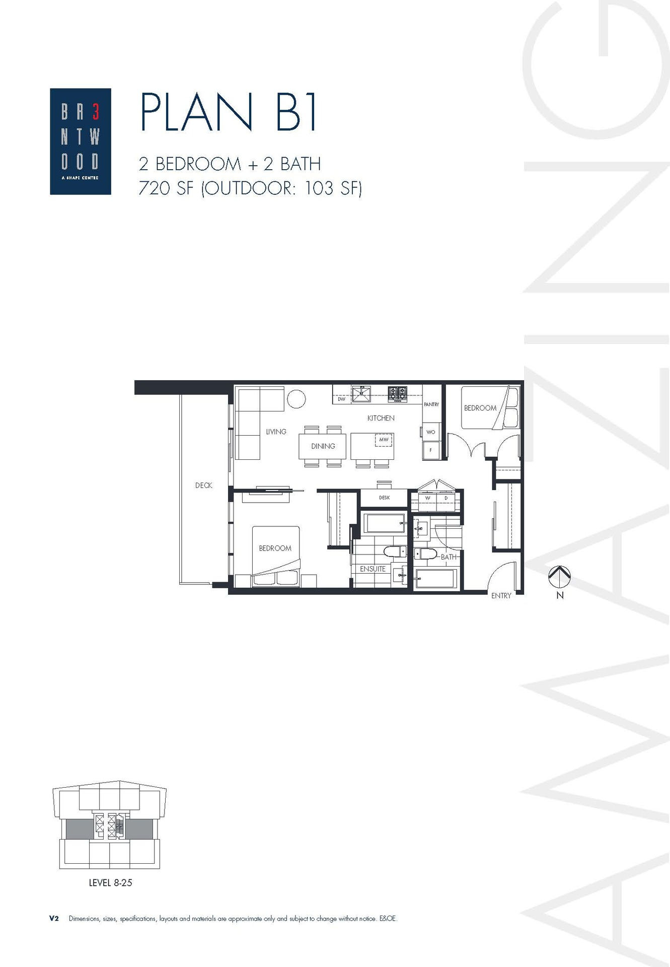 floor-plan at #1406 - 4567 Lougheed Hwy, Brentwood Park, Burnaby North