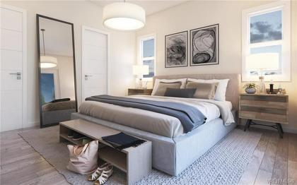 Rendering of a bedroom at Cypress Mews. at 104 - 1454 Bear Mountain Parkway, Bear Mountain, Langford