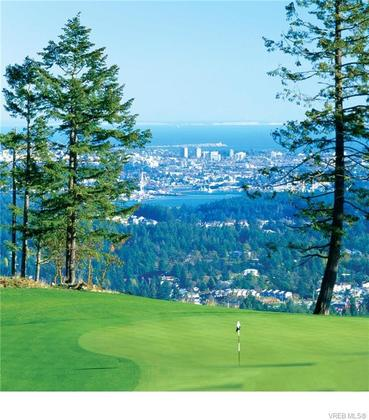 View of downtown Victoria from the Mountain Course. at 104 - 1454 Bear Mountain Parkway, Bear Mountain, Langford