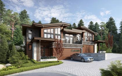 West coast Contemporary Exterior at 105 - 2030 Pebble Drive, Bear Mountain, Langford
