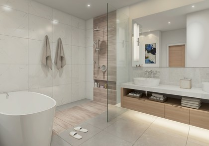 rendering-ensuite at 101 - 2030 Pebble, Bear Mountain, Langford