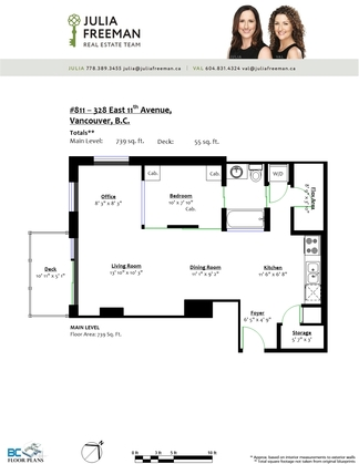 floor-plan-811-328-east-11th-ave at 811 - 328 E 11th Avenue, Mount Pleasant VE, Vancouver East