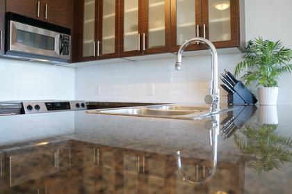 Granite countertops and stainless appliances at 1606 - 2355 Madison Avenue, Brentwood Park, Burnaby North