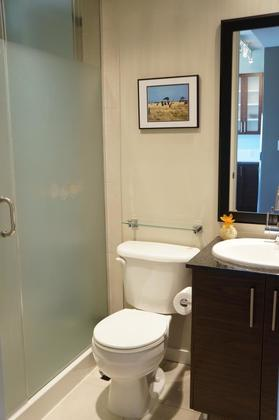 Main bathroom which has a shower as well at 1606 - 2355 Madison Avenue, Brentwood Park, Burnaby North