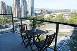 An 85 square foot balcony with a stunning view where you can BBQ and relax at 1606 - 2355 Madison Avenue, Brentwood Park, Burnaby North