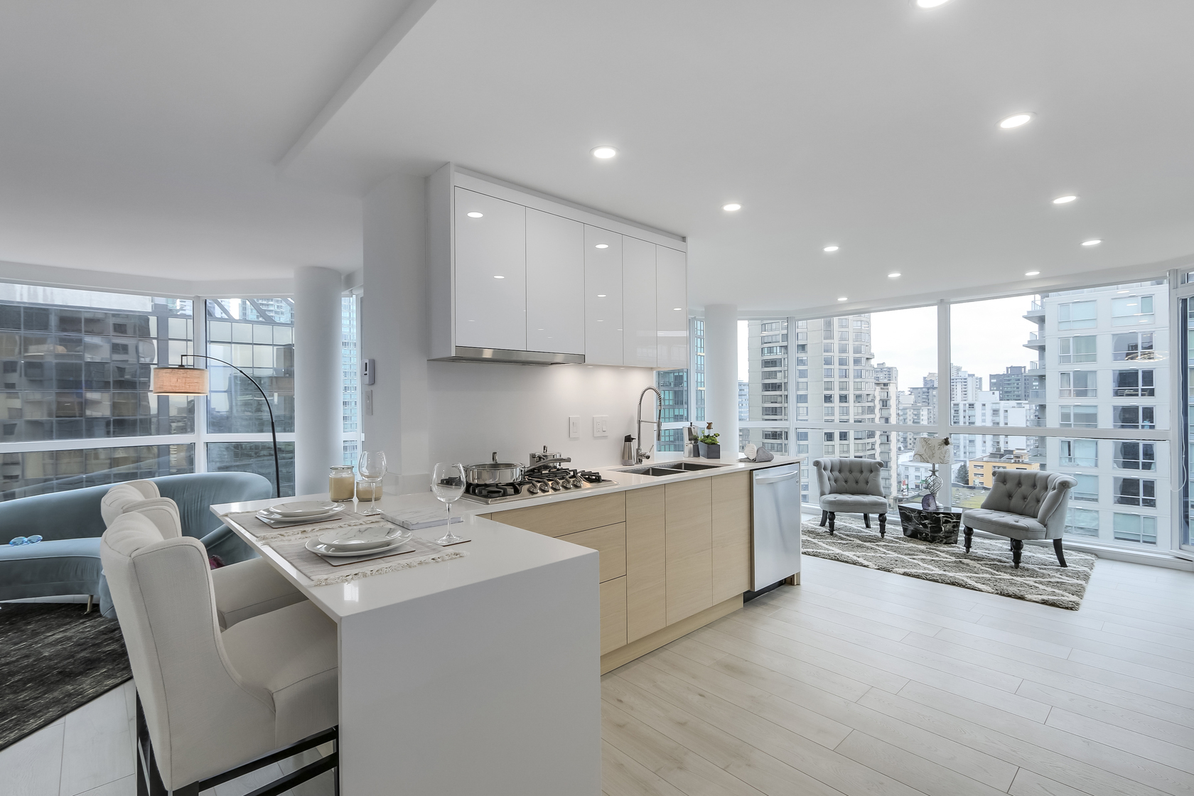 8 at 1704 - 1415 W Georgia Street, Coal Harbour, Vancouver West
