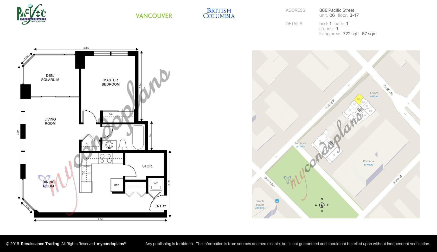 floor_plan_c9f95a0a5af052bffce5c89917335f67-1 at 1106 - 888 Pacific Street, Yaletown, Vancouver West