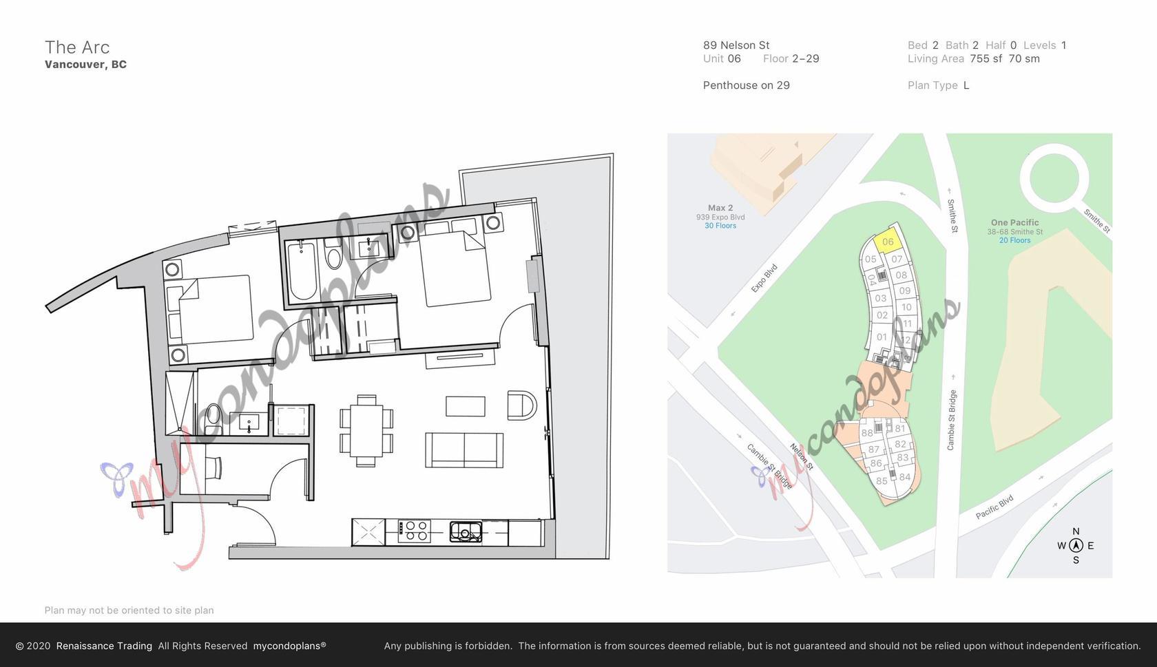 floor_plan_44c4c17332cace2124a1a836d9fc4b6f-1 at 6th Floor - 89 Nelson Street, Yaletown, Vancouver West