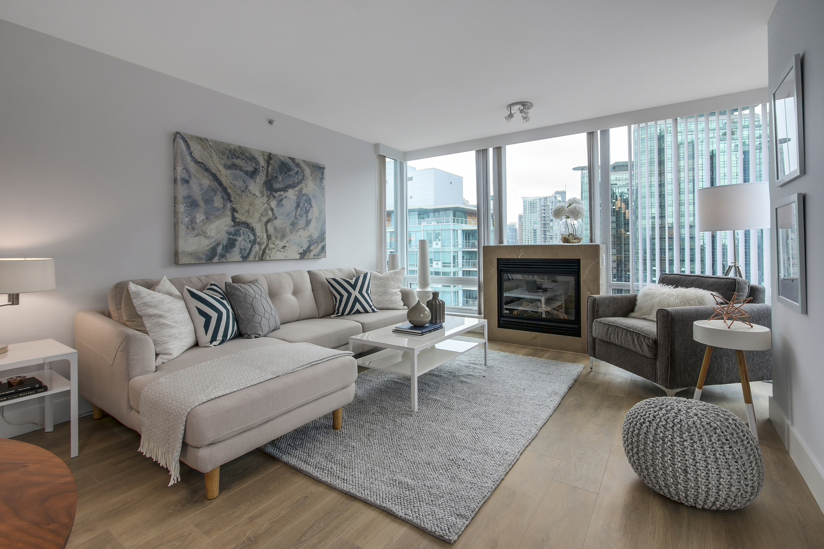 Living Room at 1904 - 590 Nicola Street, Coal Harbour Waterfront (Coal Harbour), Vancouver West