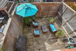 Backyard at 168 Dallimore Circle, Banbury-Don Mills, Toronto