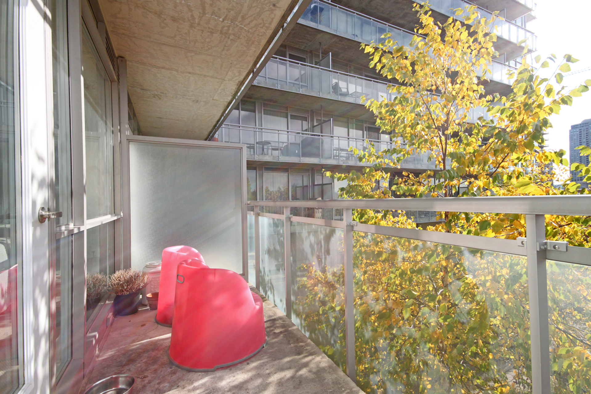 Balcony at 505 - 30 Canterbury Place, Willowdale West, Toronto