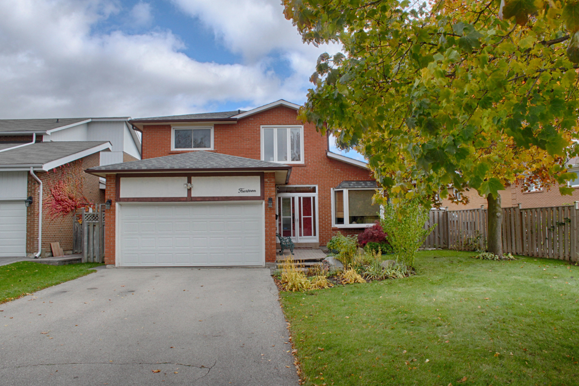 Front at 14 Gretman Crescent, Aileen-Willowbrook, Markham