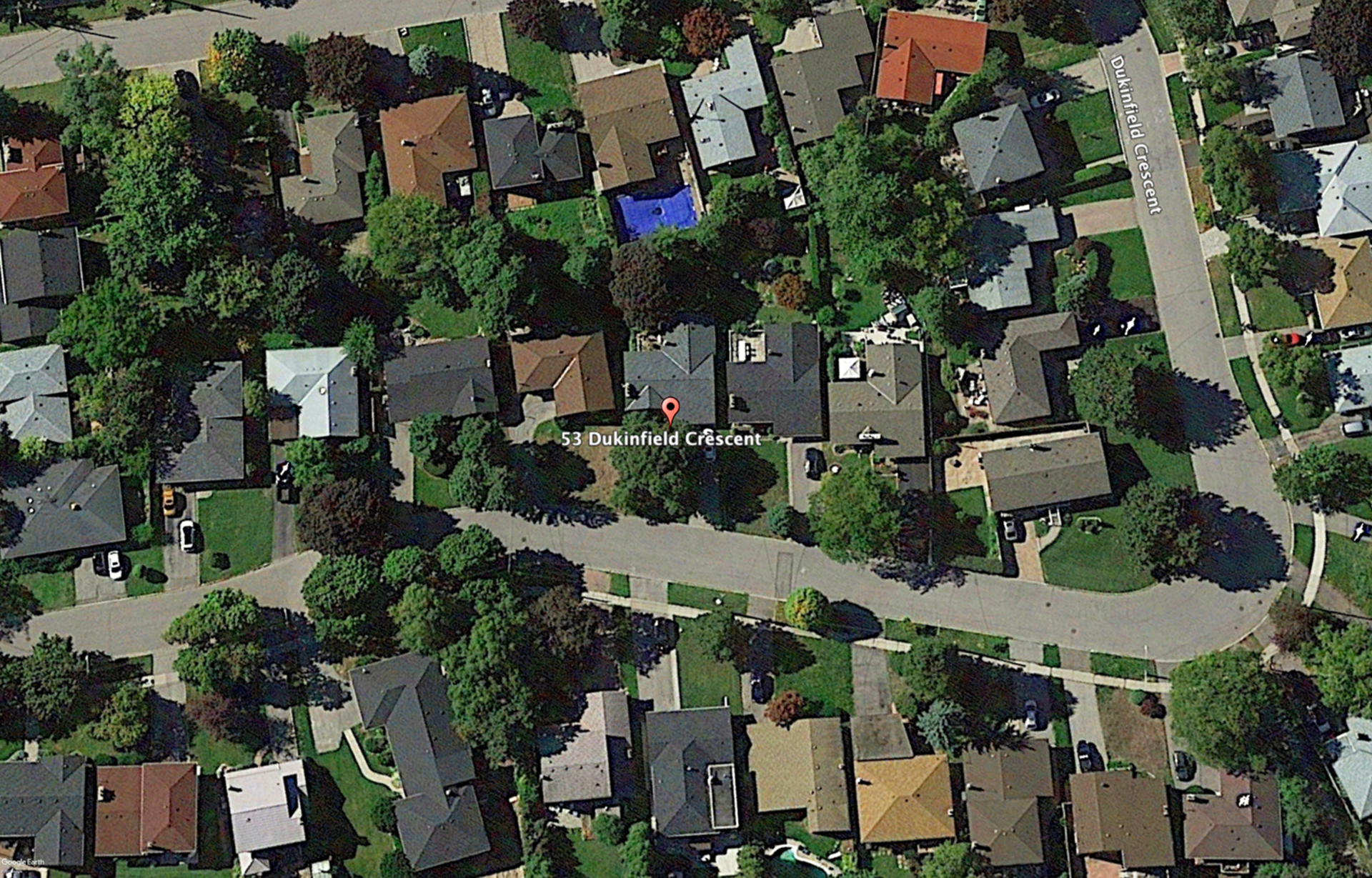 Aerial at 53 Dukinfield Crescent, Parkwoods-Donalda, Toronto