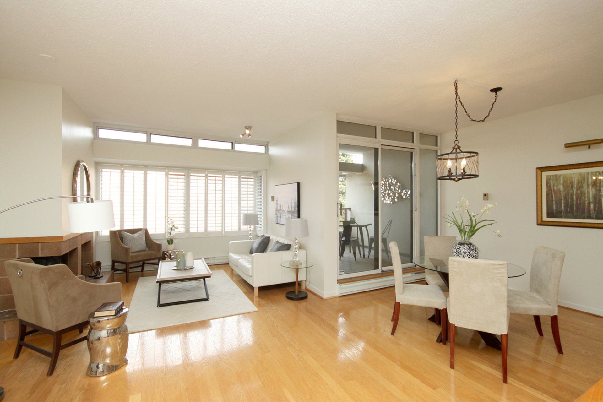 Living & Dining Room at 337 - 40 Oaklands Avenue, Yonge-St. Clair, Toronto